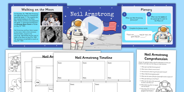 Neil Armstrong Lesson Teaching Pack Space Planets Lessons