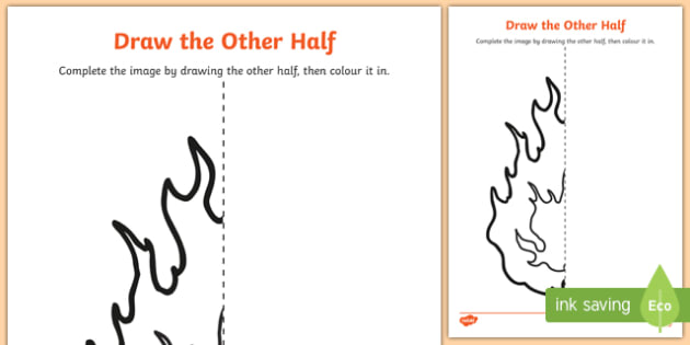 The Great Fire of London Draw the Other Half Worksheet /