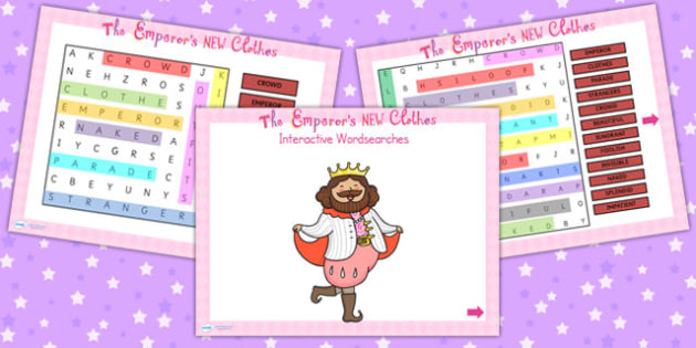 The Emperors New Clothes Interactive Wordsearch - story books