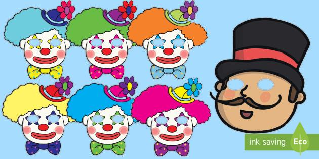 Circus Role Play Masks - circus, clown, juggler, role play mask, role play