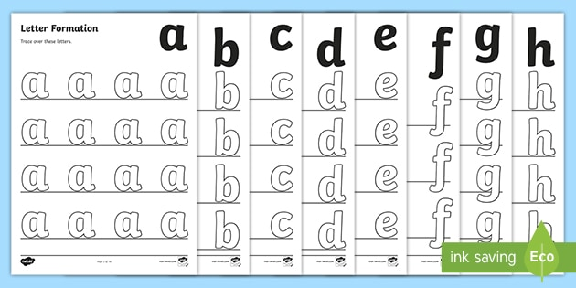 FREE! - A-Z Letter Formation Sheets Primary Resources