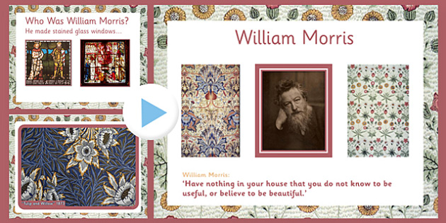 William Morris PowerPoint - william morris, powerpoint, information, famous, artist