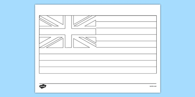 Hawaii Flag Colouring Page