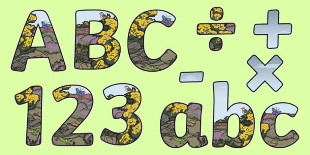 Living Things and their Habitats Themed Display Letters and Numbers Pack - Science lettering, Science display, Science display lettering, living things, habitats