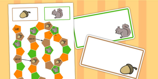 Autumn Themed Editable Board Game - seasons, weather, games