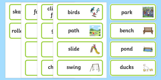 Park Word Cards - park, word, cards, eal, word cards, park cards
