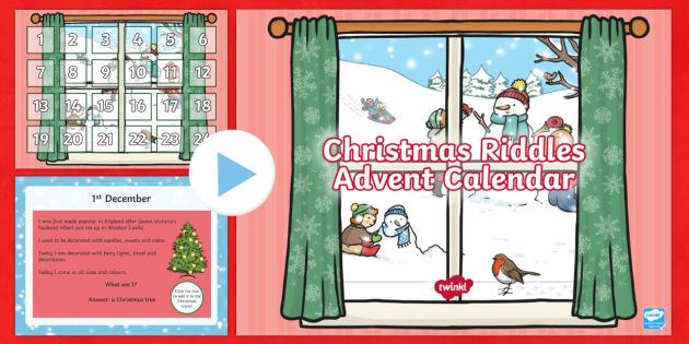 Christmas Riddles Advent Calendar PowerPoint