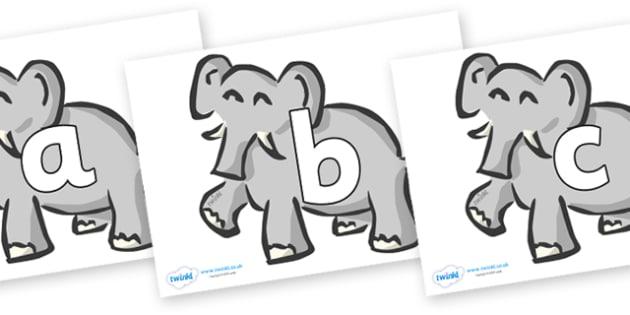 Phoneme Set on Elephants - Phoneme set, phonemes, phoneme, Letters and Sounds, DfES, display, Phase 1, Phase 2, Phase 3, Phase 5, Foundation, Literacy