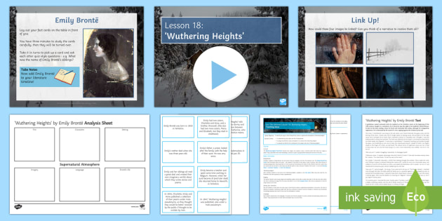Into the Unknown Pre-1914 Literature Lesson Pack 18: 'Wuthering Heights' - Into The Unknown