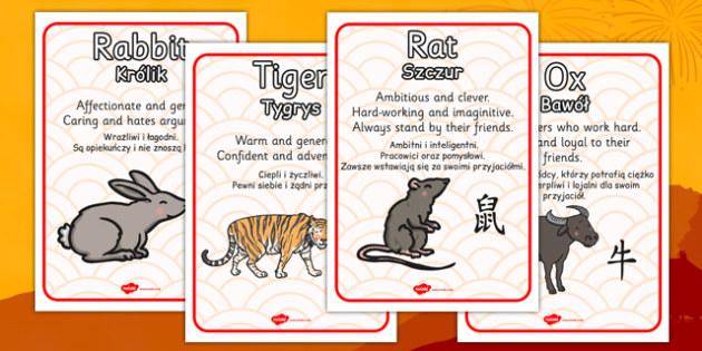 Chinese New Year Zodiac Animal Characteristics Polish Translation - polish, chinese new year, zodiac, animal, characteristics