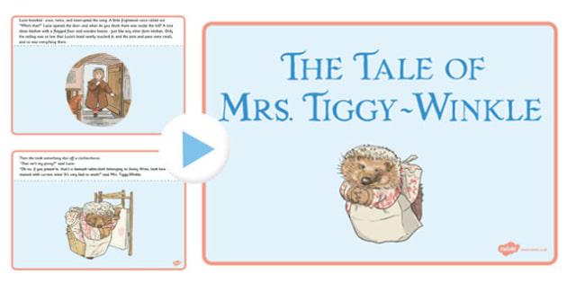 The Tale of Mrs Tiggy Winkle PowerPoint - mrs tiggy winkle, powerpoint