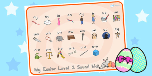 Easter Level Two Sound Mat - easter, level two, sound mat, sounds