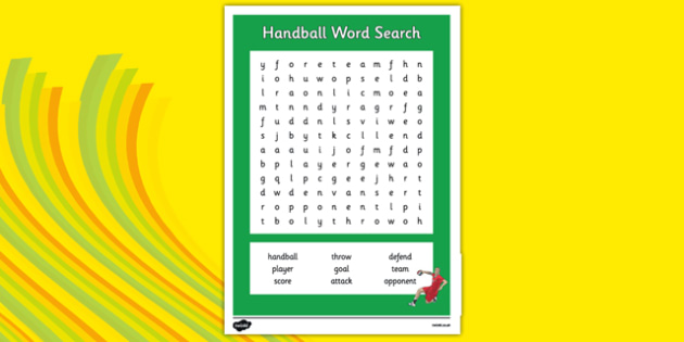 Rio 2016 Olympics Handball Word Search - rio 2016, 2016 olympics, rio olympics, word search, wordsearch