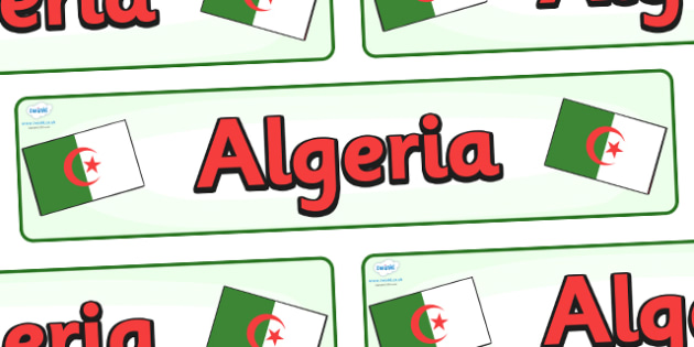 Algeria Display Banner - Algeria, Olympics, Olympic Games, sports, Olympic, London, 2012, display, banner, sign, poster, activity, Olympic torch, flag, countries, medal, Olympic Rings, mascots, flame, compete, events, tennis, athlete, swimming