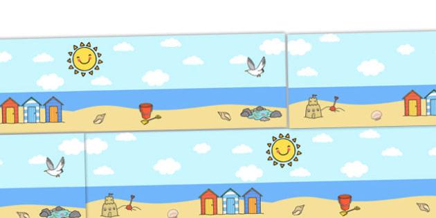 Seaside Small World Background - Small World, backdrop, background, scenery, small world area, small world display, small world resources, seaside, under the sea, beach