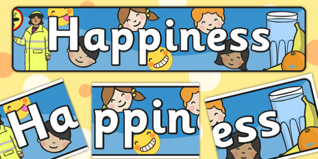 Happiness Themed  Banner - header, emotions, feelings
