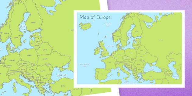 Map of Europe - map, europe, map of europe, geography, display, poster