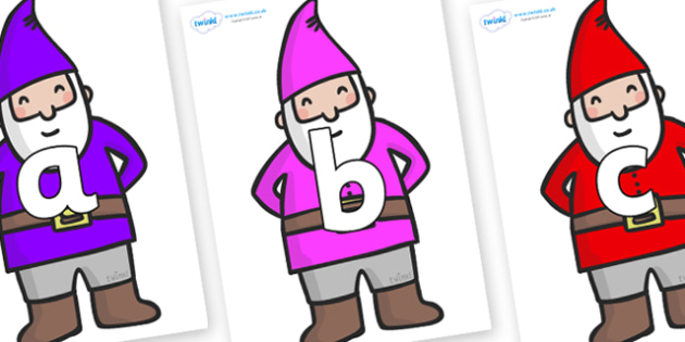 Phoneme Set on Gnomes - Phoneme set, phonemes, phoneme, Letters and Sounds, DfES, display, Phase 1, Phase 2, Phase 3, Phase 5, Foundation, Literacy