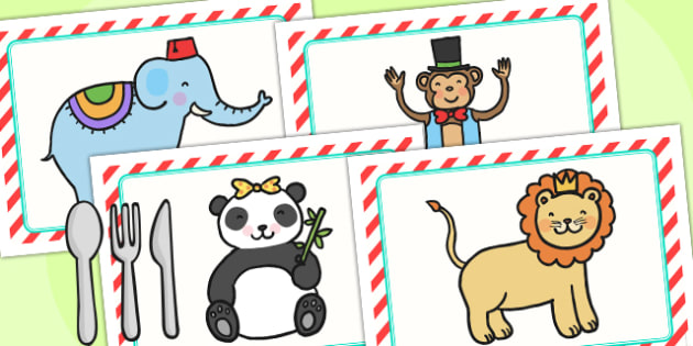 Animal Themed Birthday Party Place Mats - birthdays, parties