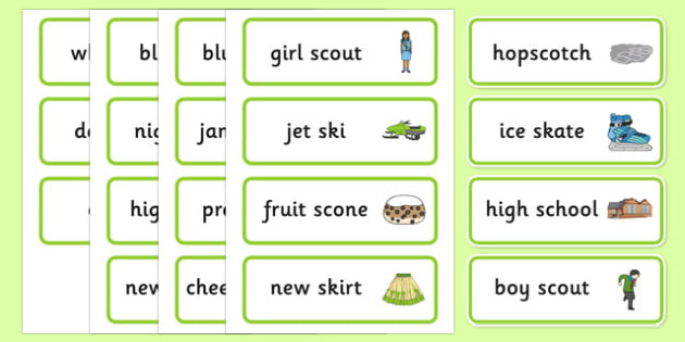Word Medial SC SK Word Cards - speech sounds, phonology
