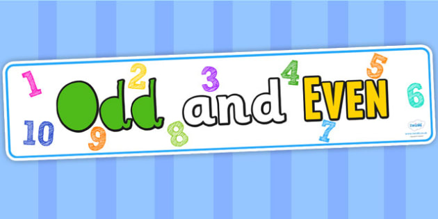 Odd and Even Display Banner - odd, even, maths, banner, display