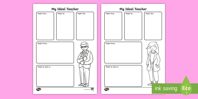 Year 1 My Ideal Teacher Worksheet / Worksheet - back to ...