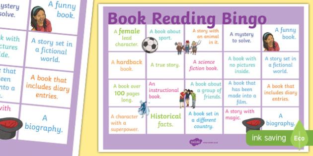 Book Reading Bingo A3 Display Poster - book, reading, read, bingo, a3, display poster, display, poster
