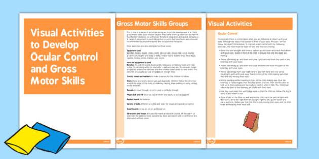 Ocular Control Gross Motor Skills Activities - Motor, Ocular