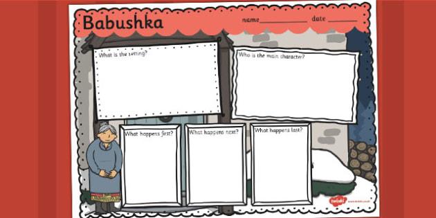 Babushka Book Review Writing Frame - babushka, review, writing