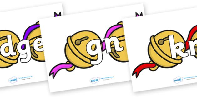 Silent Letters on Jingle Bells - Silent Letters, silent letter, letter blend, consonant, consonants, digraph, trigraph, A-Z letters, literacy, alphabet, letters, alternative sounds