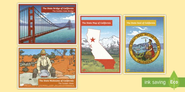 California State Symbols Display Posters California State Of