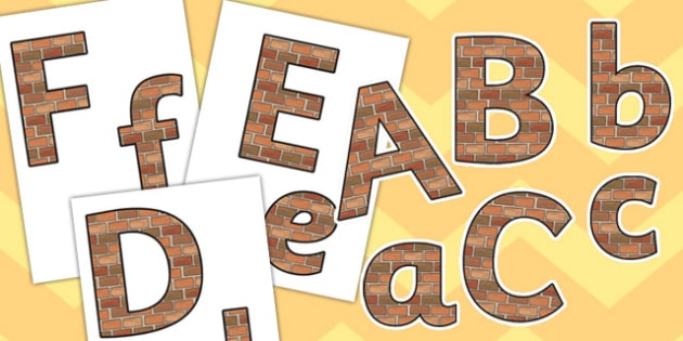 Brick Themed Editable Display Lettering Pack - display lettering