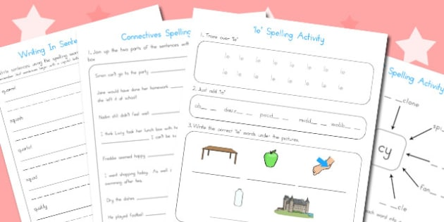 Year 2 Spelling Activities 4 - australia, year 2, spell, activity