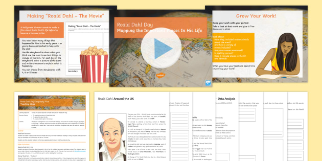Roald Dahl Day Geography Lesson Pack - literacy, books