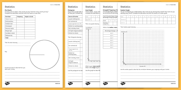 Student Led Practice Statistics Worksheet  Activity Sheet