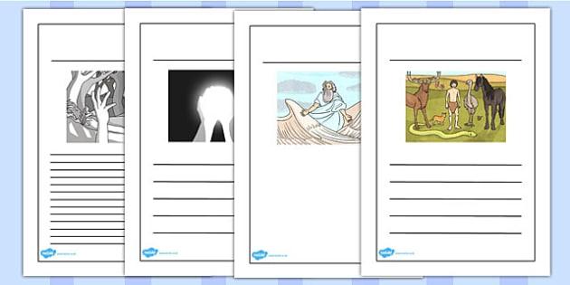 Jewish Christian Creation Story Writing Frames - writing template