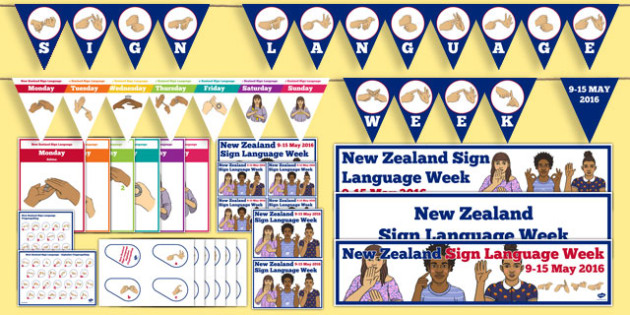 New Zealand Sign Language Week Resource Pack - nz, new zealand, sign language week, resource pack, resources, pack