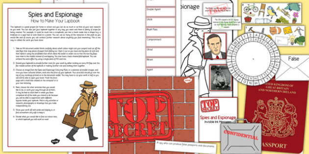 Spies and Espionage How to Make Your Lapbook - spies, espionage, make, lapbook, home education