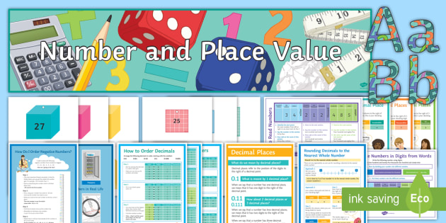 Number and Place Value: Display Pack - decoration, maths