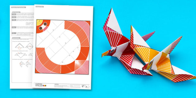 Enkl Origami Dove Printable - Enkl, arts, crafts, activity - photo#27