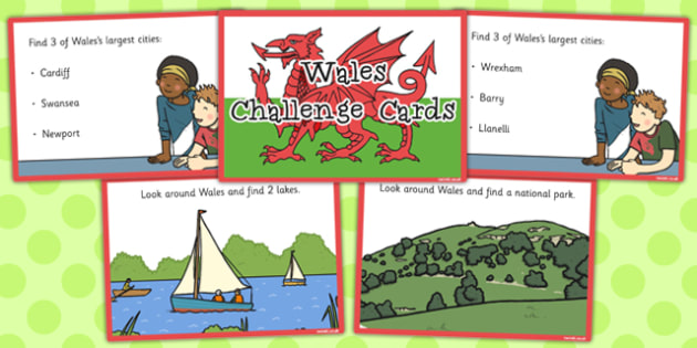 Our Country Wales Challenge Cards - challenge, cards, country