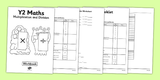Year 2 Multiplication And Division Workbook Workbook Activity