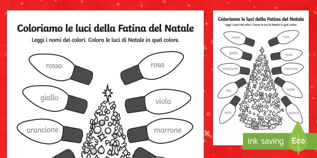 Fogli da colorare dellla fatina del Natale - Natale, luci di natal, colorare, colori, buon natale, feste, natalizio, festività