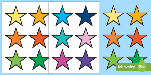 It's just a graphic of Printable Stars with cartoon