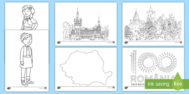 România La Centenar Pagini De Colorat Centenarul 100 De