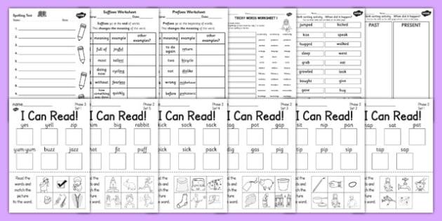 Early Years to KS2 Spelling List Pack - eyfs, ks1, ks2, spelling