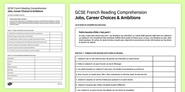 French Reading Comprehension Worksheets - resultinfos