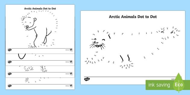 Arctic Animals Dot to Dot Worksheet / Worksheets - The ...