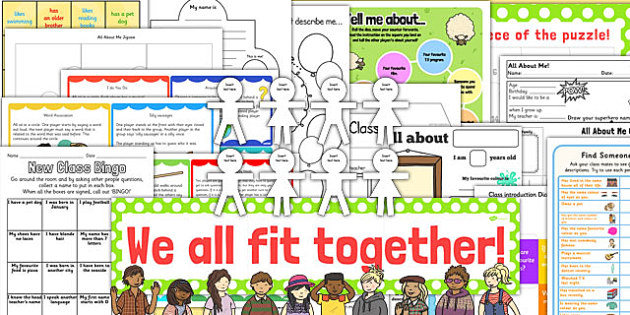 Getting to Know You: New Class Pack KS1 - new class, pack, ks1