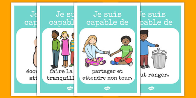 Good Manners Posters French - french, good manners, good, manners, poster, display